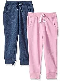 3c02deb41bf12 Amazon Brand - Spotted Zebra Girls' Toddler & Kids 2-Pack Fleece Jogger  Pants