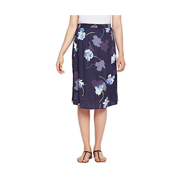 Oxolloxo Viscose Floral Over The Belly Maternity Skirt India