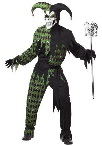 Sinister Jester Adult Costume Green - Large