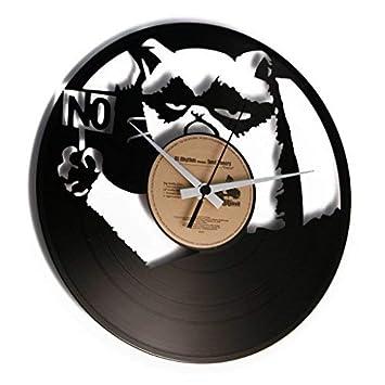 discoclock – Reloj de vinilo/Vinyl record Clock – Reloj de pared/reloj de