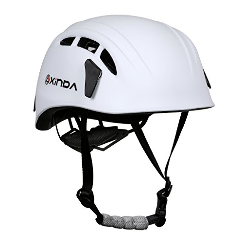 MagiDeal Professional High Strength Climbing Hard Hat Outdoor Caving Rescue Safety Helmet - Various Colors - White