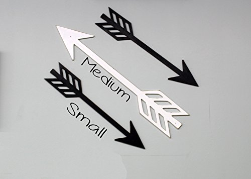 Wood Creations - Small Arrow Cutout MDF - Unfinished Craft Wood - DIY - Craft Project - Wall Sign - Home - Arrow Out Cut