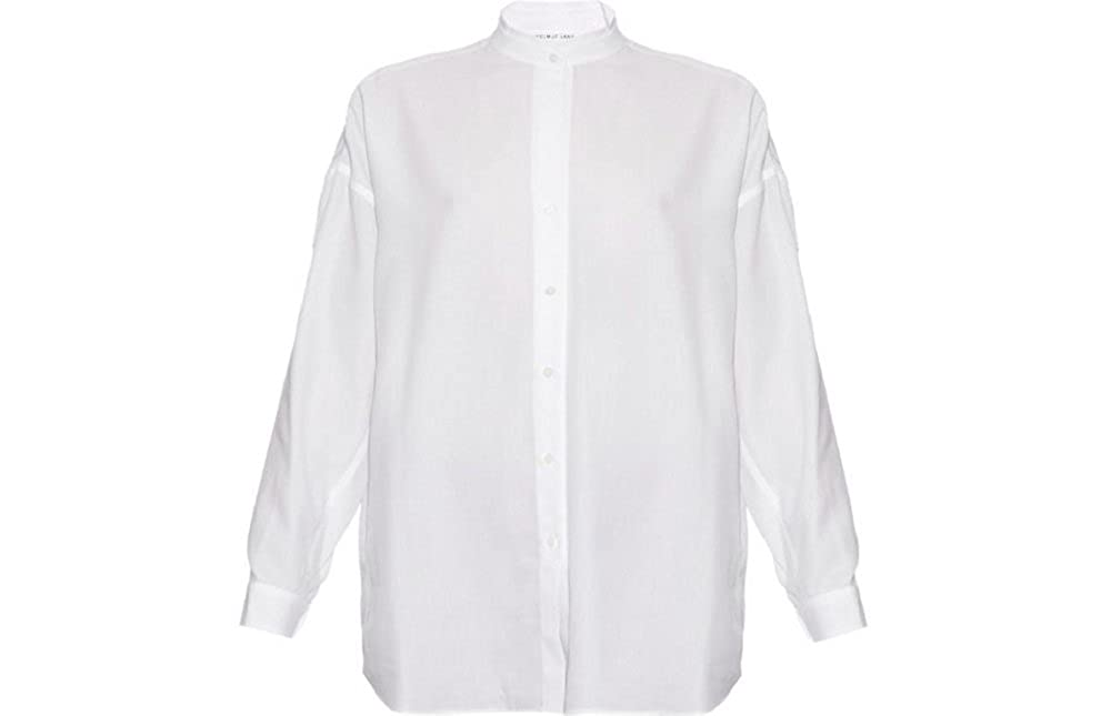 Helmut Lang White Cotton Open Back Shirt S