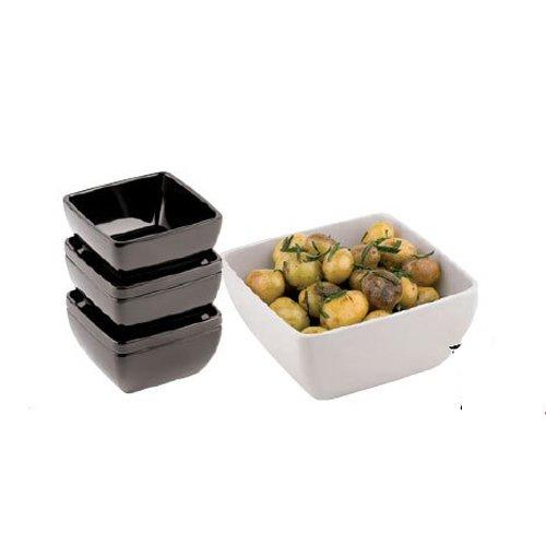 PADERNO - Square Bowl Cm 12,5 Black Melamine