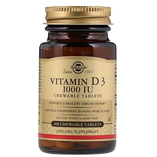 Solgar, Vitamin D3 1000 Iu Chewable, 100 Tablets