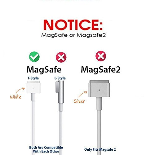 Macbook Pro ChargerAc 60w Magsafe Power Adapter Charger for MacBook and 13-inch L Shape Tip A1181 A1278 A1184 A1330 A1342 A1344