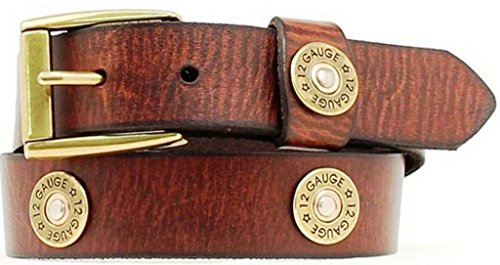Nocona Boy's Shotgun Shell Conchos Belt, Brown, 24 (Nocona Concho)