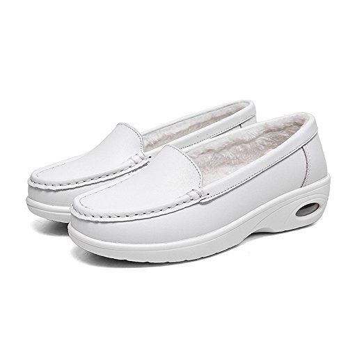 Shoes Work Shoes White Slip Comfortable With Design Resistant Nursing Cooga Women's Fur Nurse zWR18g