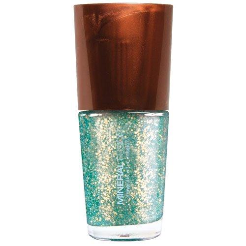 Mineral Fusion Nail Polish, Emerald Sand, .33 (Emerald Fusion)