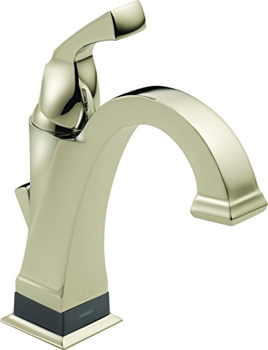 Faucet  Dryden Single Handle Centerset Bathroom Faucet with Touch 20.XT Technology, Polished Nickel - Delta 551T-PN-DST