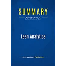Summary: Lean Analytics: Review and Analysis of Croll and Yoskovitz' Book