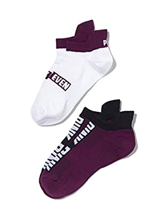 Victoria's Secret PINK Ultimate No Show Ankle Socks Set Black Orchid/White