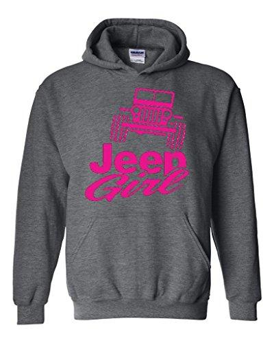 Acacia Jeep Girl Unisex Hoodie Sweatshirt X-Large Dark Heather