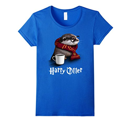 Womens Cute Funny Harry Otter Halloween Tshirt Costume Medium Royal Blue for $<!--$19.99-->