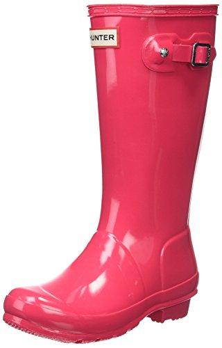 (Hunter Kids Unisex Original Kids' Gloss Rain Boot (Little Kid/Big Kid) Bright Pink 5 Big Kid M M)