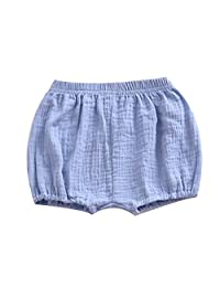 LOOLY Baby Bloomers Unisex Baby Girls Boys Cotton Linen Blend Shorts
