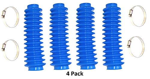 4-Pack Aftermarket Blue Shock Absorber Boot Cover JSP Brand Replaces ROU-87151 Rough Lifted 4x4 Jeep ORV Universal (Dust Boot Covers)