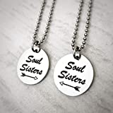 Soul Sisters Best Friend Silver Arrow Necklace Gift Set for 2