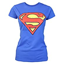 Official Superman Distressed Logo Women's T-Shirt