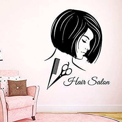 Llzz Wall Sticker Hair Salon Wall Applique Beauty Girl Vinyl Wall Sticker Comb Scissors Style Hair Salon Wall Decoration Hairdresser New Applique Buy Online At Best Price In Uae Amazon Ae