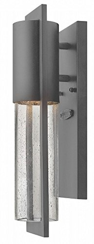 Hinkley 1326HE-LL Shelter Outdoor Wall Sconce, 1-Light LED 6.5 Watts, (Hinkley Contemporary Lighting)