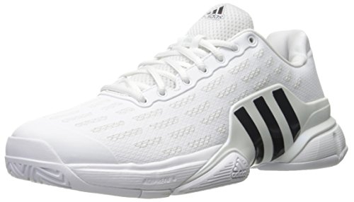 adidas Performance Men's Barricade 2016 Tennis Shoe, White/Collegiate Navy/Kurz Silver Foil, 10 M US