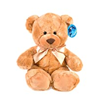 "WILDREAM Brown Teddy Bear Stuffed Animal Plush in Sitting Position 9.8"""
