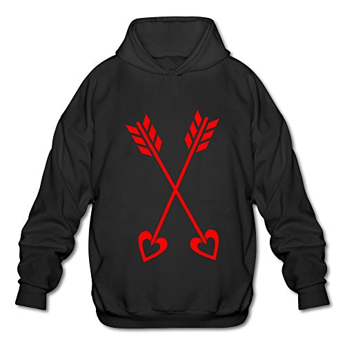 NUBIA The Blade Of Cupid Valentine Logo Fashion Sweatshirt For Men Black Size M