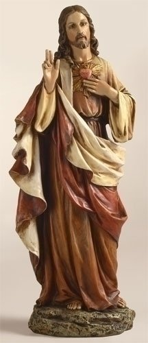 (Renaissance Collection Joseph's Studio by Roman 10.25 Inch Tall Sacred Heart of Jesus Figure, Made of Stone Resin and Hand Painted)