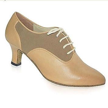 Zapatos Talón Negro Sintético Silencio La Grueso Moderna Baileswing Mujer De wH6O7