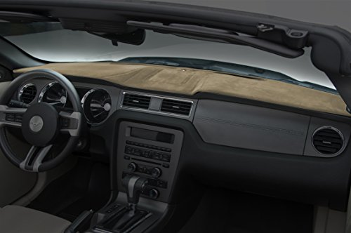 Coverking Custom Fit Dashboard Cover for Select Chrysler Voyager Models - Velour (Beige)