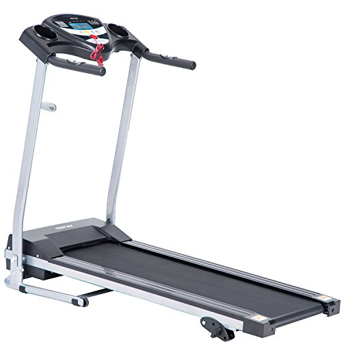Merax Electric Folding Treadmill Motorized Running Machine with Wheels Easy Assembly (Black Color)