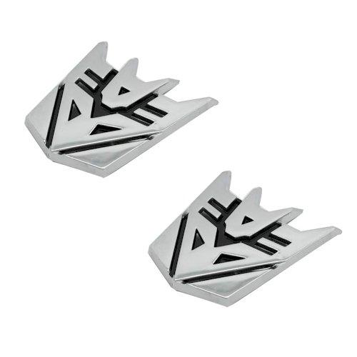 (The Masonic Exchange Decepticon Pair Chrome Finish PVC Car Auto Emblems - 1