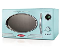 With a beautiful and sleek retro design, this microwave is sure to stand out in any kitchen. It features 12-pre programmed cooking settings and a bright LED display, making usability simple. Five power levels and 800-watts of power are perfec...