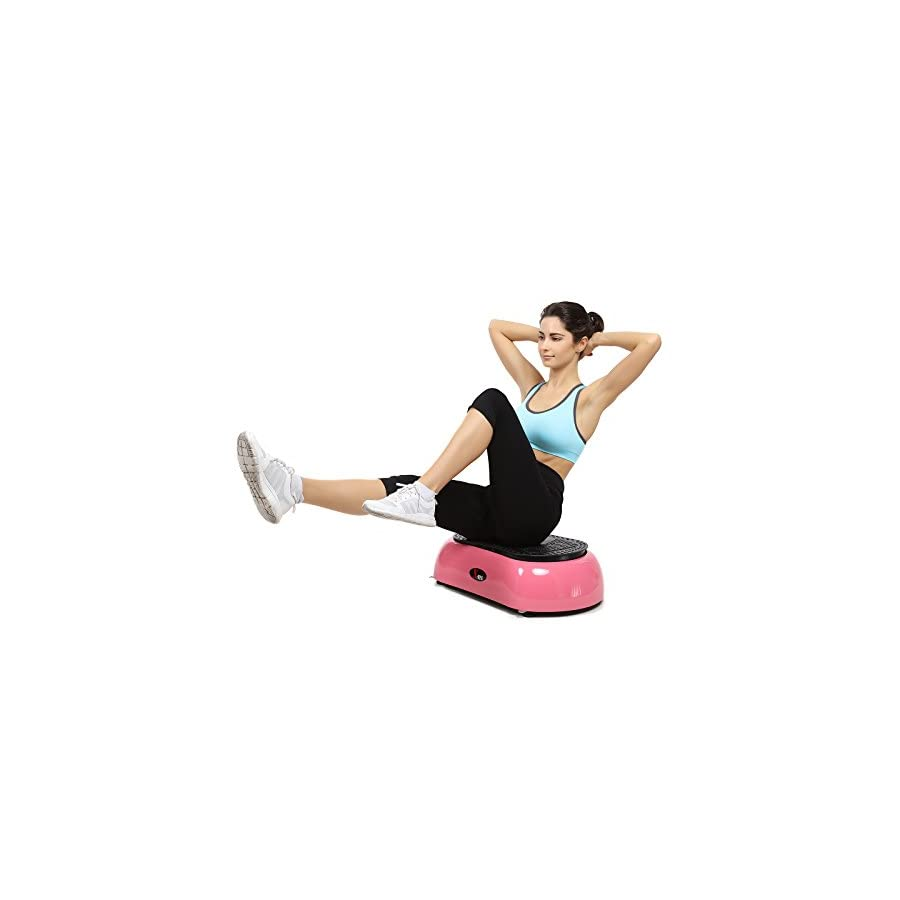 X MAG Portable Whole Body Vibration Fitness Trainer Platform Machine with Straps