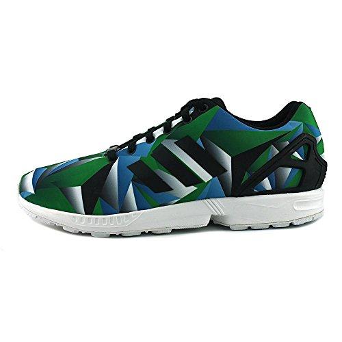 Adidas Zx Flux Blauw Mozaïek Fotoprint (wit / Blauw / Groen / Zwart)