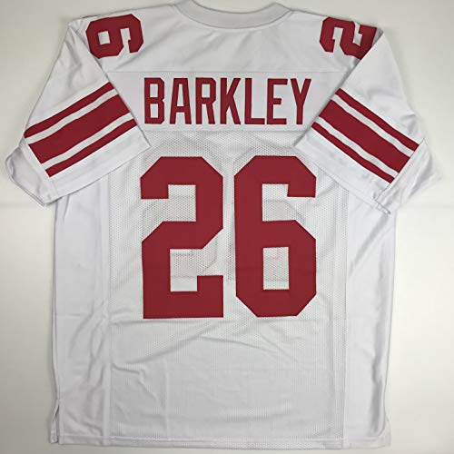 Unsigned Saquon Barkley New York White Custom Stitched Football Jersey Size Men's XL New No Brands/Logos