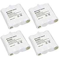 4 Pack Fenzer Replacement Two-Way Radio GMRS / FRS Rechargeable Battery for Midland BATT6R BATT-6R LXT-276 LXT-314 LXT-317 LXT-318 LXT-319 LXT-320 LXT-322 LXT-323 LXT-324 LXT-330 LXT-335