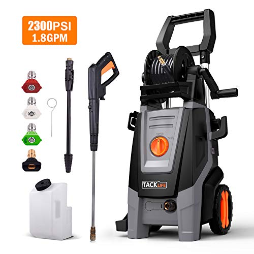 TACKLIFE Pressure Washer, 2300PSI 1.8 GPM, High EfficiencyPower, Electric Pressure Cleaner, Pure Copper Motor, 360 ° Easy to Remove Dirt, for Vehicle, Home, Garden, Barbecue (Sale Furniture Boxing Day)