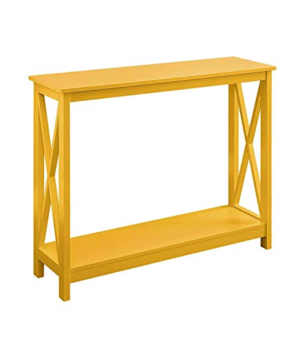 Convenience Concepts 203099Y Oxford Console Table, Yellow (Table Yellow Accent)