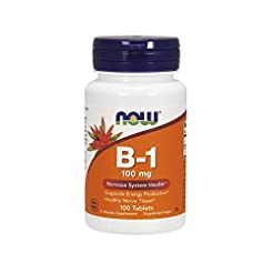 Now Supplements, Vitamin B-1 100 mg, 100...