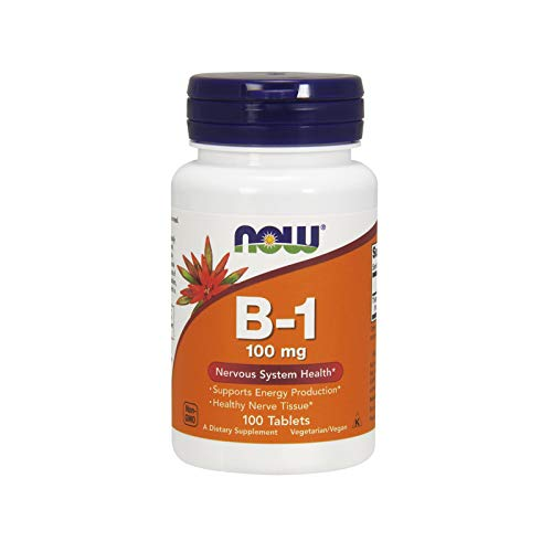 NOW Vitamin B-1 (Thiamine) 100 mg,100 Tablets