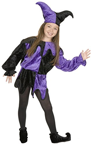 Charades Panne Jester Children's Costume, Medium -