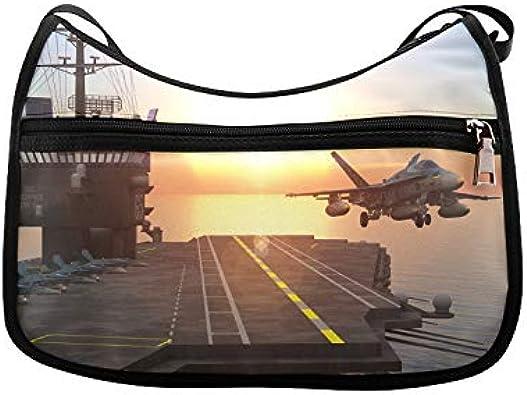 Fighter Jet Runway Personalised Messenger Shoulder Bag