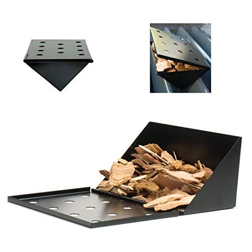 Cooking Equipment Accessories,1PC Non-Stick V-Shape BBQ Smoker Gas Grill Smoker Box Wood Chip Smoker Short Barbecue Smoking Box Outdoor Flavour Grill box BBQ Tool by VandiLop77
