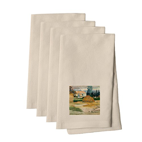 Style in Print Landscape Near Arles (Gauguin) Cotton Canvas Dinner Napkin, Set of 4 (Arles Canvas)