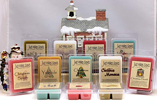 PICK-A-SCENT CHRISTMAS WAX MELT 4 PACK - Choose Your Own Scents - Build Your Own Christmas Melt Bundle - Scented Christmas Scent Bars Made With Blended Soy Wax - Free Shipping