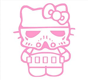 Hello Kitty Storm Trooper Darth Vader Star Wars Kitty 6 In Light Pink Funny Decal