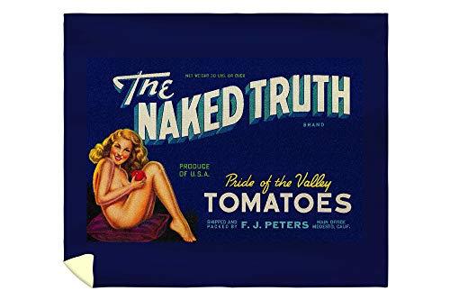 (Lantern Press The Naked Truth Tomato - Vintage Label 2041 (88x104 King Microfiber Duvet Cover))