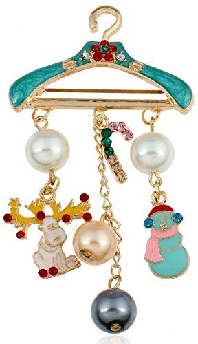 [GLK Snowman Reindeer Hanger Brooch Cosplay Costume Accessories] (Garnet Cosplay Costume)